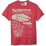 STAR WARS Men's Millennium Falcon Detailed Drawing T-Shirt
