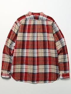 Madras Band Collar Shirt 11-11-3215-139: Red