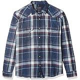 Lucky Brand Men's Long Sleeve Snap Front Indigo Santa Fe Western Shirt