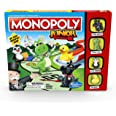 MONOPOLY - Junior - My First MONOPOLY Game - Fast, Simple Gameplay - Kid-Friendly properties - 2 to 4 Players - Board Games a