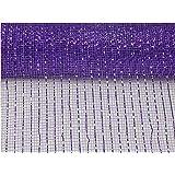 """10 inch x 30 feet Deco Poly Mesh Ribbon (Purple, 10"""")"""