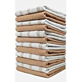 HomeLabels Kitchen-Towels (Taupe 2)