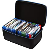 2TUFF Blu-ray DVD Case and Video Game Case - Bluray DVD Case Holder Organizer for up to 22 Blu Ray or 18 Xbox PS3 PS4 Games -