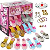 Princess Dress Up and Play Shoe and Jewelry Boutique (set Includes 4 Pairs) (Original Version)