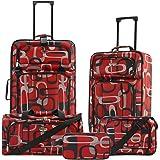 Travelers Club Tuscany 5-Piece Upright Luggage Set, Circle