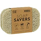 S&T INC. BPA-Free Soap Savers for Kitchen and Bathroom, 4 Pack, Bone