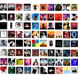 80 Print Album Covers | Unique Square Printed Photos 4x4 | Album Cover Posters Collage Kit | Music Posters for Room Aesthetic