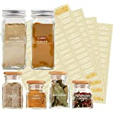 271 Labels: 242 Spice/Herb Names + 29 Blank Labels | Upgraded Thicker Labels & Backing Paper| Alphabetized Spice Label System