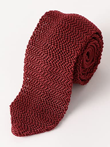 Silk Knit Tie 3134-343-2387: Burgundy