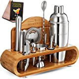 Mixology Bartender Kit With Stand - Bar Set Cocktail Shaker Set, Drink Mixer Set For Home Bar With All Bar Accessories - Bar