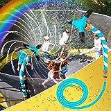 zeerliki Trampoline Sprinkler, Trampoline Accessories for Kids and Adults - Fun Summer Outdoor Game Sprinkler Water Park Game