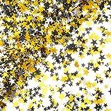 Black Gold Party Twinkle Stars Table Confetti - Glitter Sequins Confetti Bachelorette Wedding Bridal Shower Baby Shower Birth