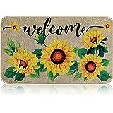 Sunflower Welcome Doormat Sunflower Indoor Outdoor Mat Non Slip Welcome Door Rug Home Rubber Entrance Mat for Home Front Door