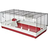 Midwest Homes for Pets Deluxe Rabbit & Guinea Pig Cage, X-Large, White & Red