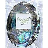 KM Company 《浄化力UP》最高級のニュージーランド産 アバロンシェル 浄化皿《両面磨き》 ホワイトセージ さざれ石 パワーストーン 浄化用 香皿
