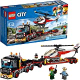 LEGO City Heavy Cargo Transport 60183 Toy Truck Building Kit with Trailer, Toy Helicopter and Construction Minifigures for Cr