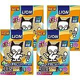 ライオン (LION) ニオイをとる砂 猫砂 ニオイをとるおから砂 5L×4袋 (ケース販売)