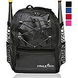 Athletico Youth Baseball Bag - Bat Backpack for Baseball, T-Ball & Softball Equipment & Gear | Holds Bat, Helmet, Glove | Fen
