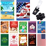 BeautifulLife Seasonal Garden Flags Set of 10 The Other Occasions - 10 Pack 12x18 inch Small Holiday Yard Flags - Double Side