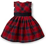 Hope & Henry Girls' Holiday Plaid Taffeta Pleated Dress