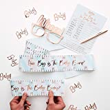 Ginger Ray Rose Gold Foiled How Big Is The Bump Baby Shower Party Game - Twinkle