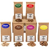 Jax Smok'in Tinder - Fine Wood Chips Sampler Pack for Stovetop Smokers, 6 of Our Popular Chips in One-Pint Paper Bags (Apple,