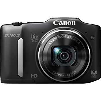 Canon デジタルカメラ PowerShot SX160IS 約1600万画素 光学16倍ズーム 単3形電池 ブラック PSSX160IS