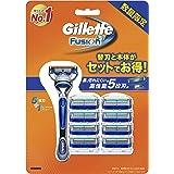 ジレット フュージョン5+1 マニュアル 髭剃り カミソリ 男性 単品 本体+替刃9個付