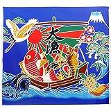 NASKA 生地 大漁旗 約110cm幅×100cm Col.3 青 パネル 85801