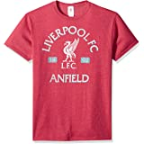Fifth Sun Official Liverpool FC Vintage Reds Men's Tee, Heather