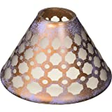 Pavilion - Bronze and Purple Sponge Patterned Frosted Glass Jar Candle Shade