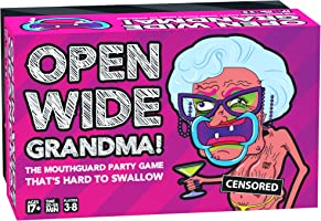 Open Wide Grandma! Game THE MOUTHGUARD PARTY GAME THAT'S HARD TO SWALLOW