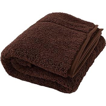 Heat Warm (ヒートウォーム) 毛布 発熱 あったか2枚合わせ ダブル ブラウン 40220306