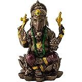 Top Collection Small 3 Ganesh (Ganesha) Hindu Elephant God of Success. Good Protection. Bronze Powder Mixed with Resin - Bron