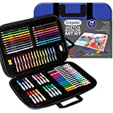 CRAYOLA 04 1050 Sketch & Colour Art Kit, 80+ Pieces, Soft Sturdy Case, Sketch Book, Crayons, Markers, Pencils, Portable Art C