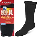 DEBRA WEITZNER Mens Thermal Socks - 4 Pair Insulated Heated Socks - Boot Socks For Extreme Temperatures