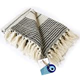 """LUXURY Throw Blanket Decorative LightWeight With Fringe 100% COTTON 