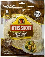 Mission Tortilla Wrap, Wholegrain, 20cm, 360g, 8 Wraps