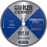 """Champion Cutting Tool Corp Circular Saw Blade 114"""", 110T (RZR-14-110-ST)-Cut Stainless"""