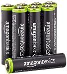 Amazonベーシック 充電池 充電式ニッケル水素電池 単4形8個セット (最小容量750mAh、約1000回使用可能)