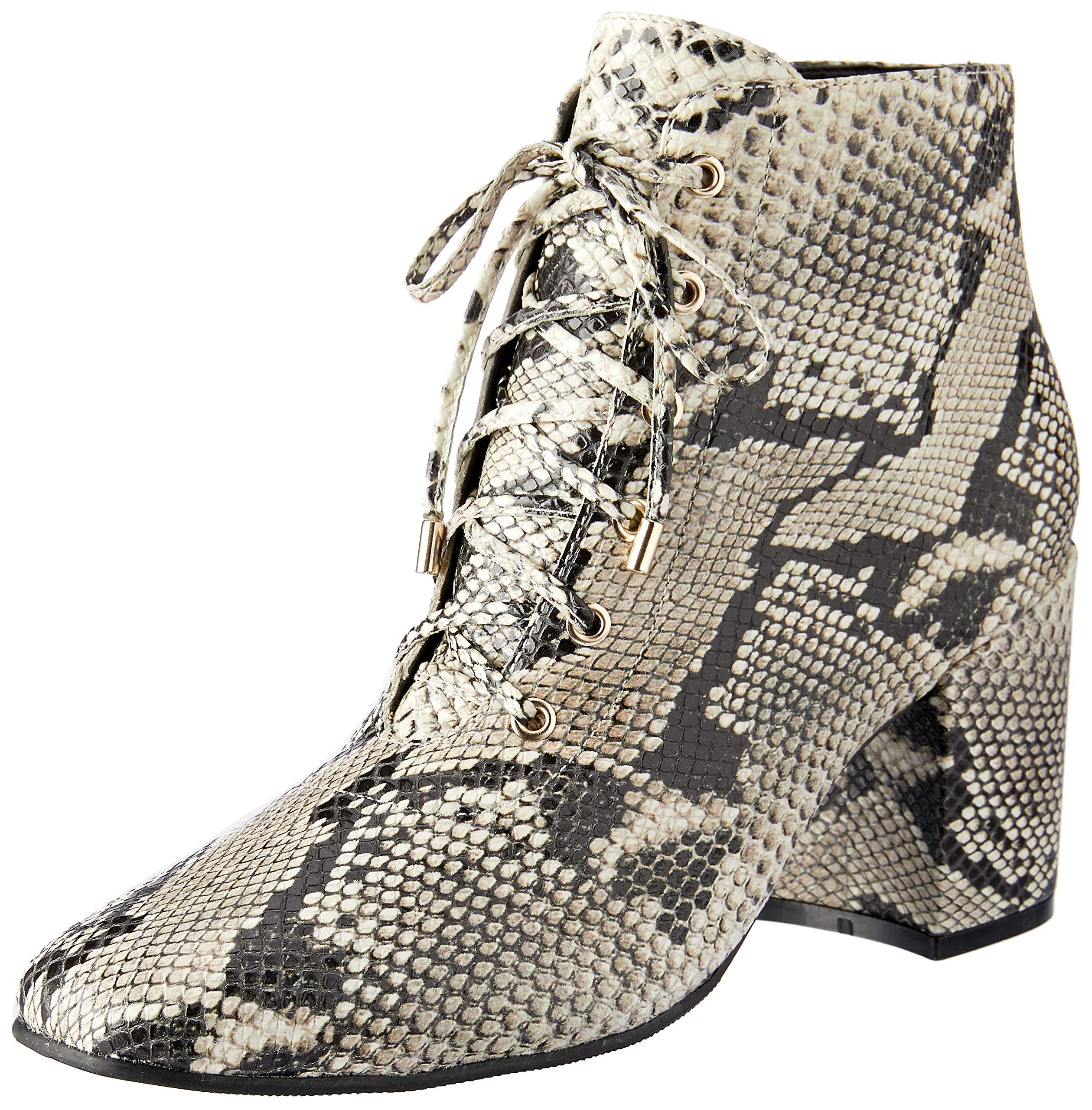 Sempre Di Women's Alessia Snake Print Ankle Boot