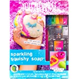 You*Niverse Make Your Own Sparkling Squishy Soaps by Horizon Group USA, DIY 5 Colorful Unicorn, Doughnut, Heart, Smiley Face,