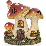 VP Home Enchanted Mushroom Cottage Solar Powered LED Outdoor Decor Garden Light