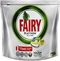 Fairy Platinum All In One Dishwasher Tablets Lemon 100 Pack