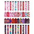 40 Pieces Chapstick Holder Keychains Neoprene Wristlet Keychain Lanyards Neoprene Lip Balm Pouch Protective Cases Vibrant Col