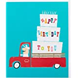 The Art File IP143 Happy Birthday to You, Cake and Candles on Truck, Multi Coloured, 14.8 x 20 cm