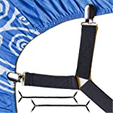 FeelAtHome Bed Sheet Holder Straps Criss-Cross - Pack of 2 Sheet Straps Suspenders - Sheet Grippers Fasteners - Fits from Twi