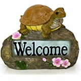 VP Home Welcome Turtle Solar Garden Light