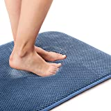 Kingole Absorbent Memory Foam Bath Mat, Non Slip and Cozy Microfiber Bathroom Floor Mat, Thick and Quick Drying Bathroom Rug