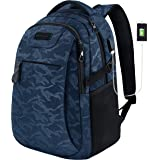 KROSER Laptop Backpack for 15.6 Inch Travel Business Computer Backpack with USB Charging Port Water-Repellent College School